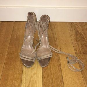 Schutz Strappy Nude Sandals